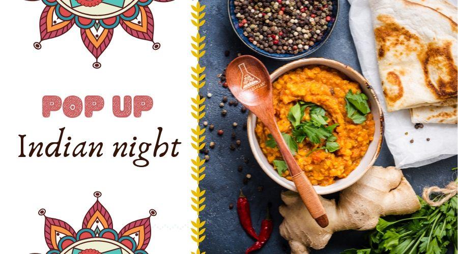 cena pop-up de comida india vegetal theVeggielab indian night
