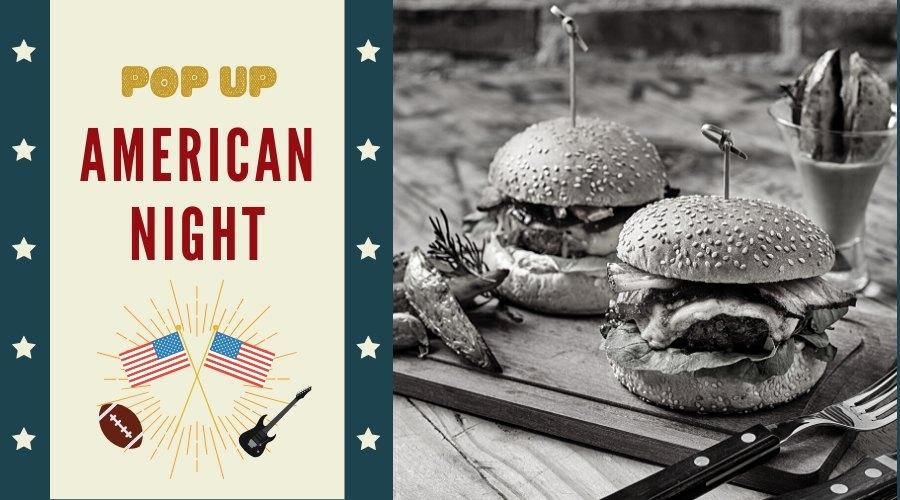 Cena y comida temática popup americana 100% vegetal theVeggielab